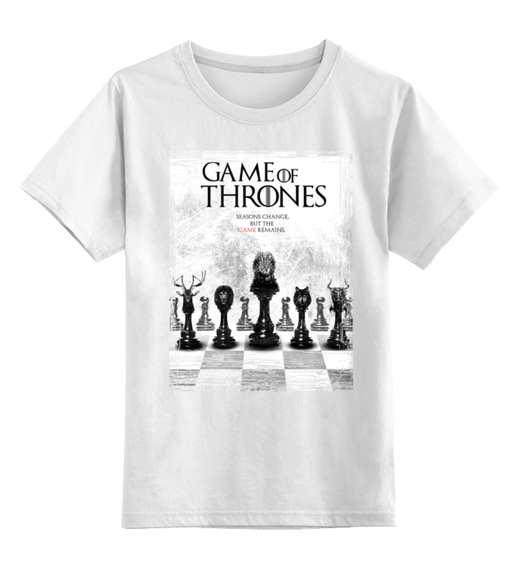 Детская футболка классическая унисекс Printio Game of thrones - игра престолов game