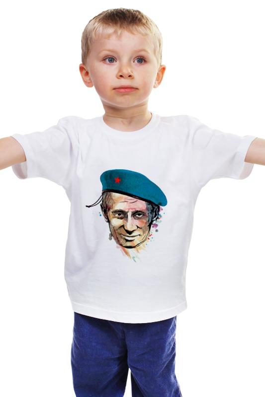 Детская футболка классическая унисекс Printio Путин детская футболка классическая унисекс printio мопед