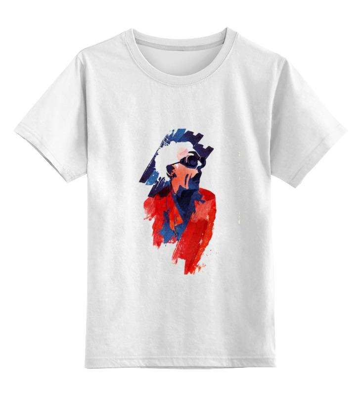 Детская футболка классическая унисекс Printio Emmet doc