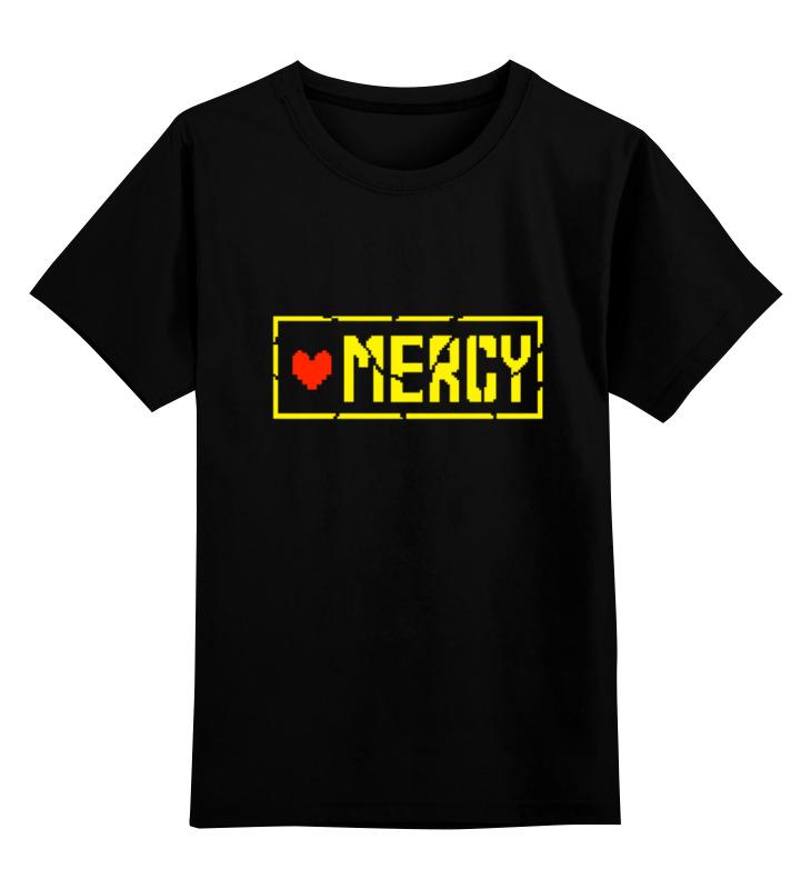 Детская футболка классическая унисекс Printio Мерси (undertale) лонгслив printio мерси undertale