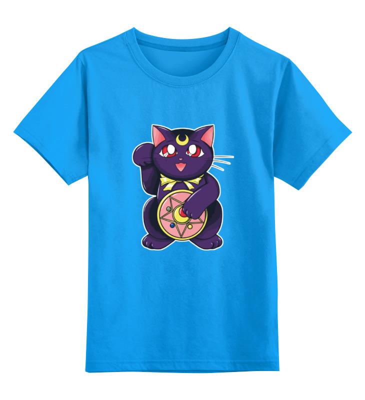 Детская футболка классическая унисекс Printio Манэки-нэко (кот счастья) россия скульптура кот гармонист