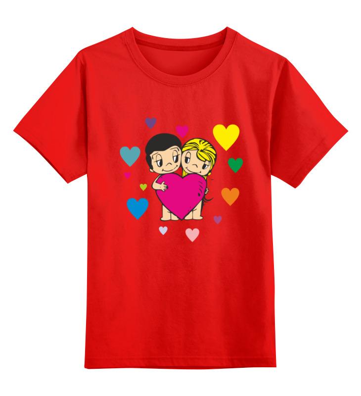 Детская футболка классическая унисекс Printio Love is... smoby детская горка king size цвет красный