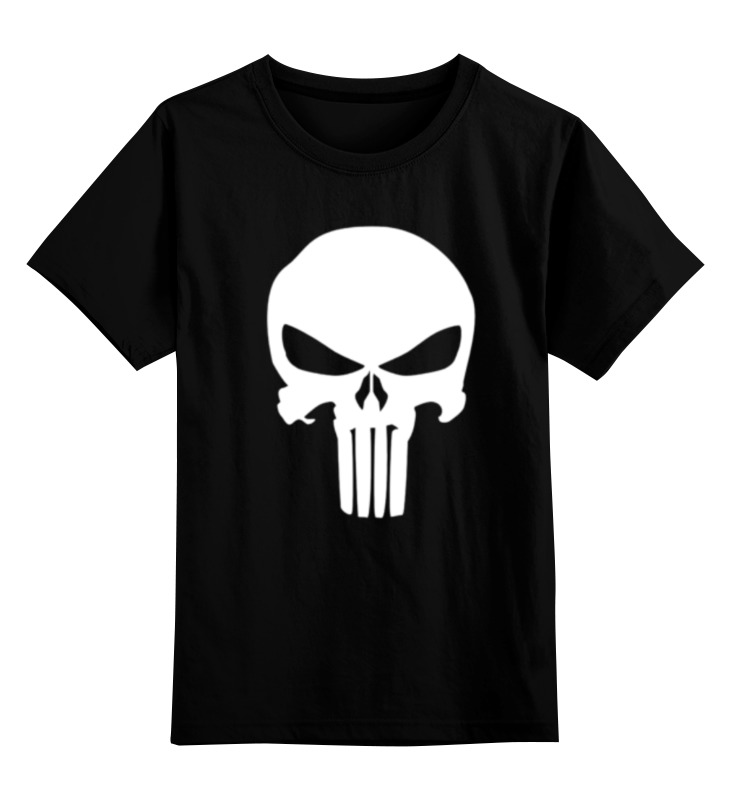 Детская футболка классическая унисекс Printio Череп карателя худи print bar футболка с логотипом карателя