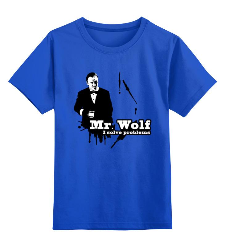 Детская футболка классическая унисекс Printio Мистер вульф (криминальное чтиво)