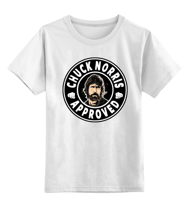 Детская футболка классическая унисекс Printio Чак норрис лонгслив printio чак норрис