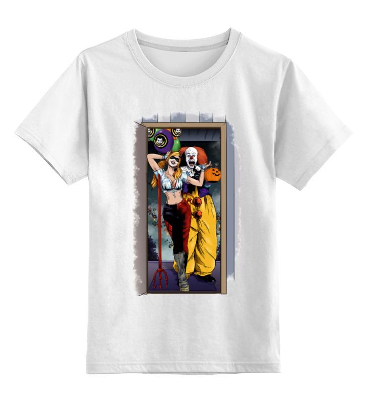Детская футболка классическая унисекс Printio Harley quinn and pennywise вертолет черепашки ниндзя
