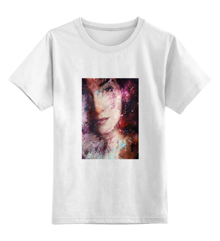 Детская футболка классическая унисекс Printio Девушка маслом