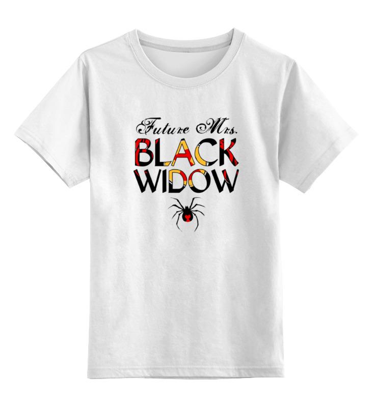 Детская футболка классическая унисекс Printio Черная вдова