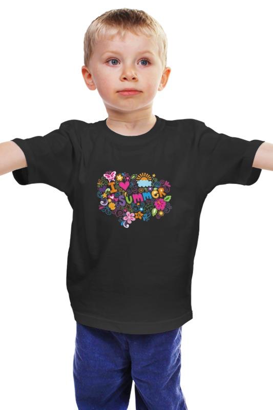 Детская футболка классическая унисекс Printio Я люблю лето детская футболка классическая унисекс printio я люблю тебя