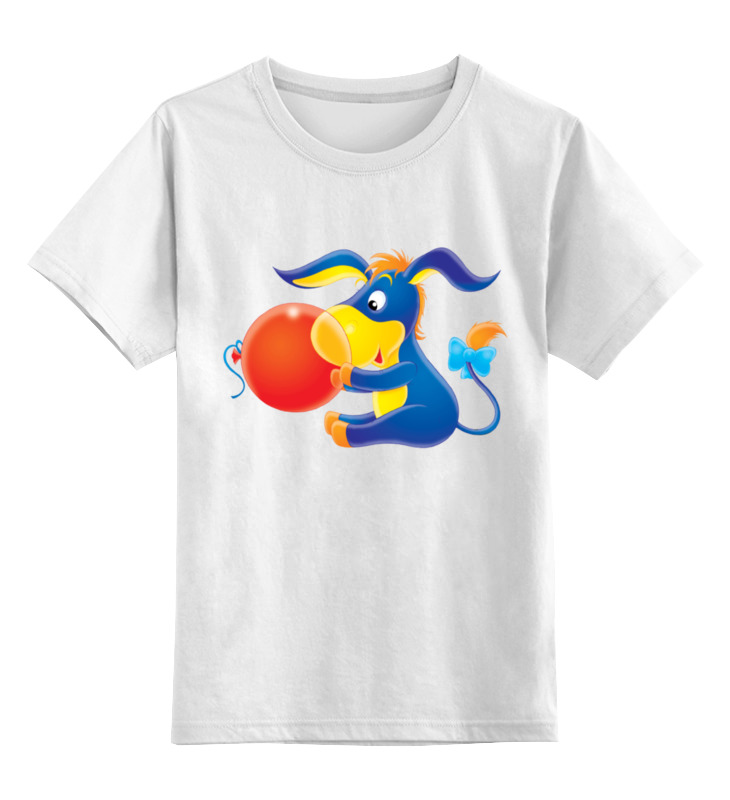 детская футболка классическая унисекс printio переходим на электромобили Детская футболка классическая унисекс Printio Ослик иа