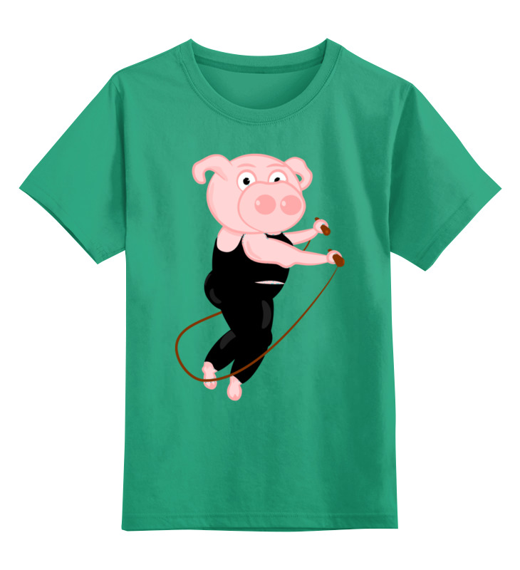 Детская футболка классическая унисекс Printio Поросёнок цена и фото