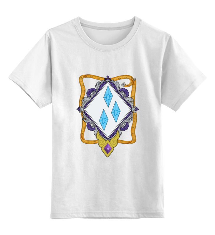 Детская футболка классическая унисекс Printio My little pony - герб rarity (рарити)