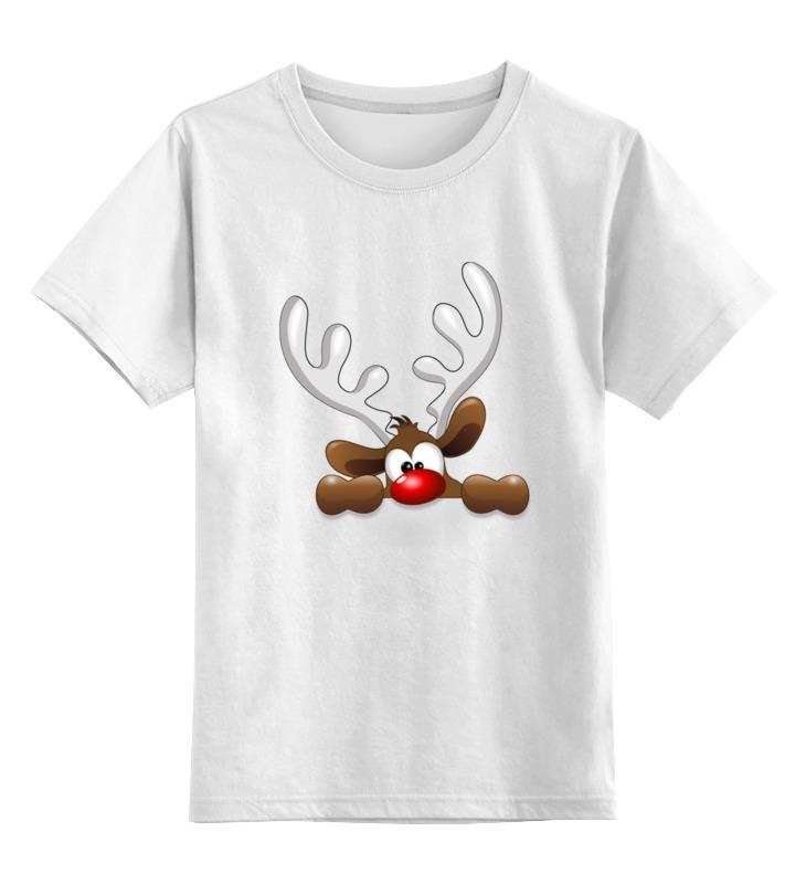 Детская футболка классическая унисекс Printio Олени цена и фото