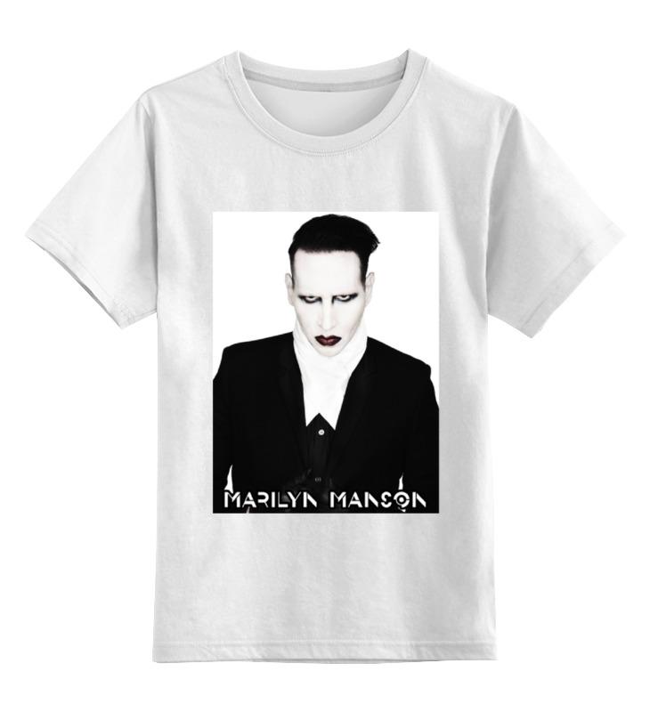 Детская футболка классическая унисекс Printio Marilyn manson цена 2017