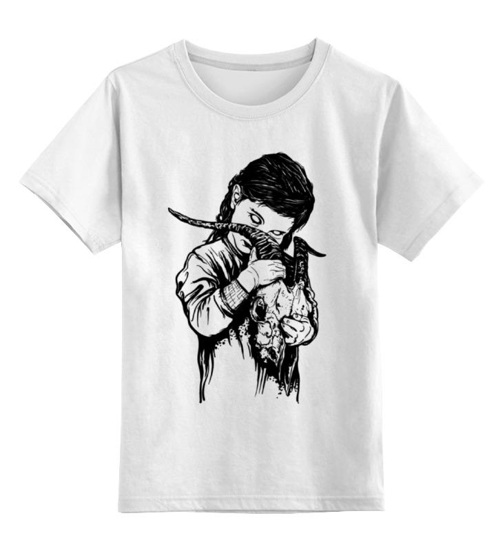 Детская футболка классическая унисекс Printio Девочка с черепом ws 398 статуэтка в стиле фэнтези девочка с черепом