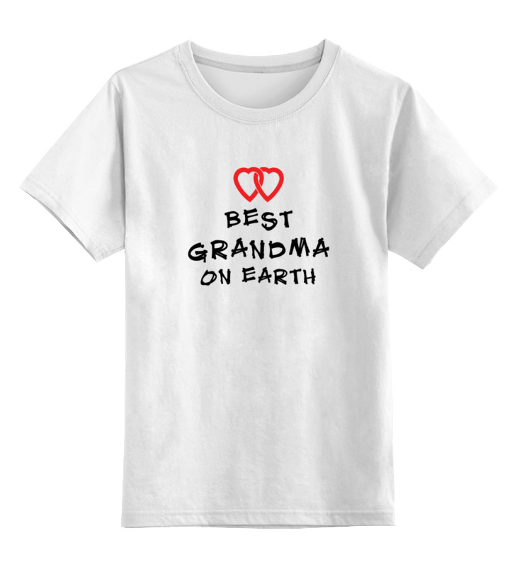 Детская футболка классическая унисекс Printio Лучшая бабушка sbart upf50 rashguard 2 bodyboard 1006