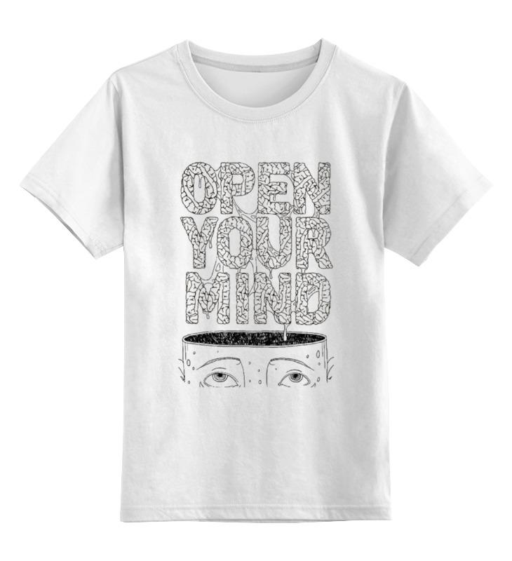 Детская футболка классическая унисекс Printio Open your mind change your mind change your life