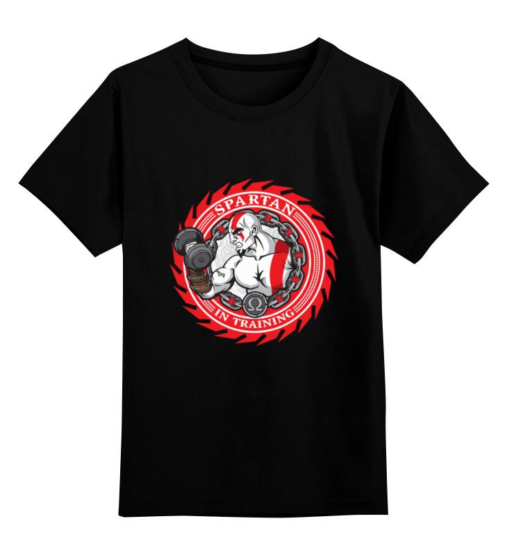 Детская футболка классическая унисекс Printio Spartan in training