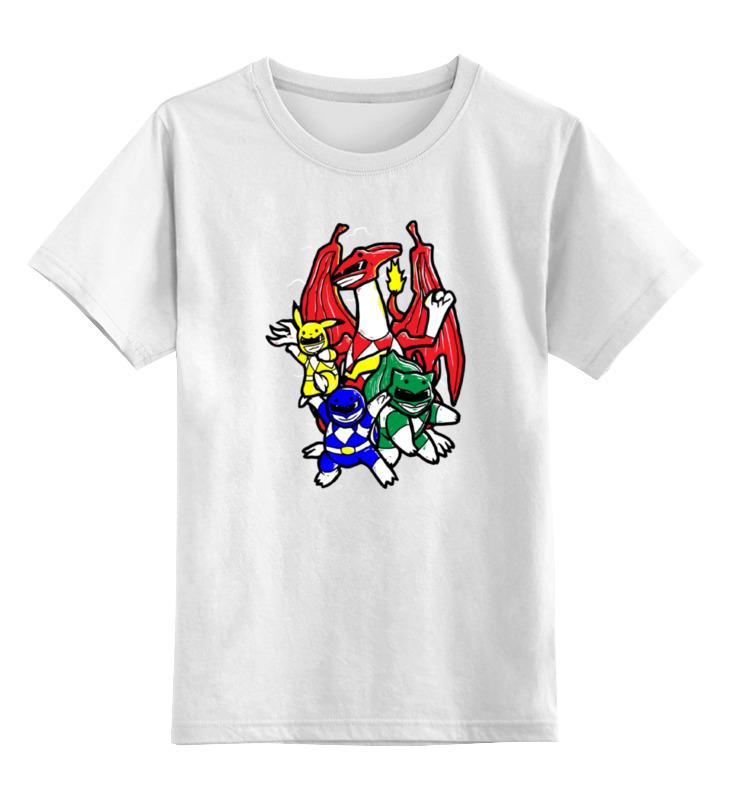Детская футболка классическая унисекс Printio Покемоны (могучие рейнджеры) детская футболка классическая унисекс printio могучие рейнджеры