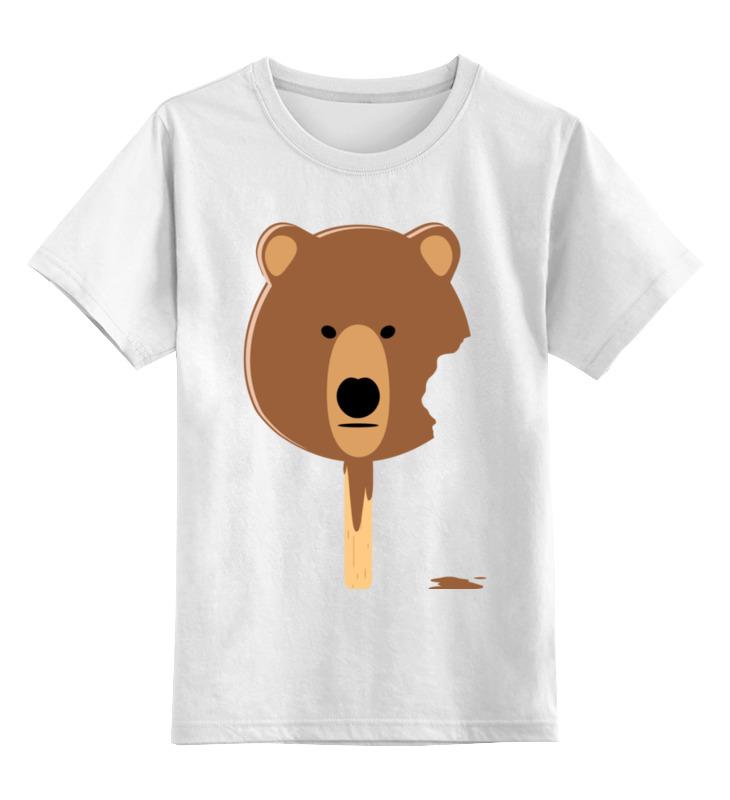 Детская футболка классическая унисекс Printio Мишка - мороженое