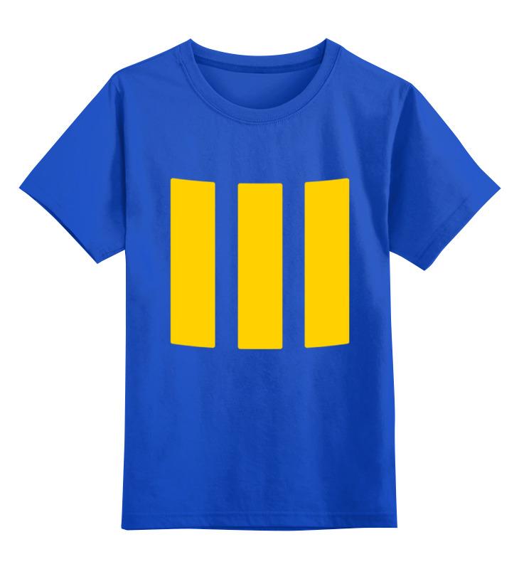 Детская футболка классическая унисекс Printio Убежище 111 (fallout 4)