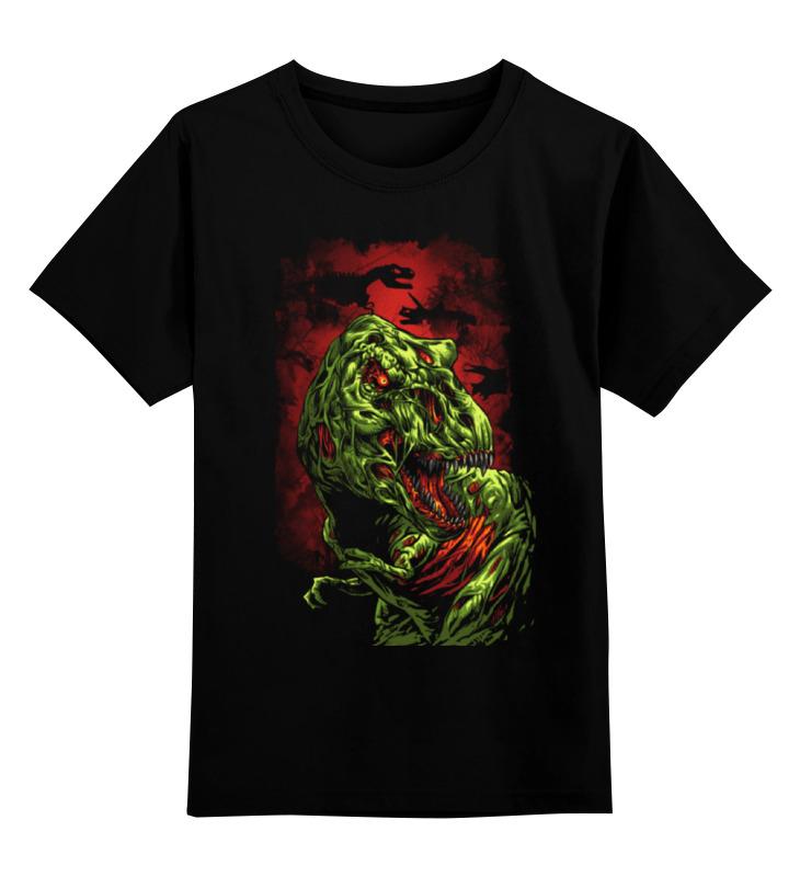 Детская футболка классическая унисекс Printio Зомби динозавр стоимость