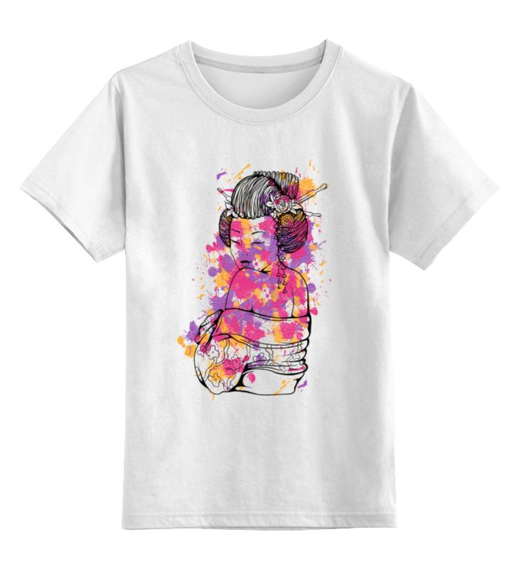 Детская футболка классическая унисекс Printio Гейша свитшот print bar гейша