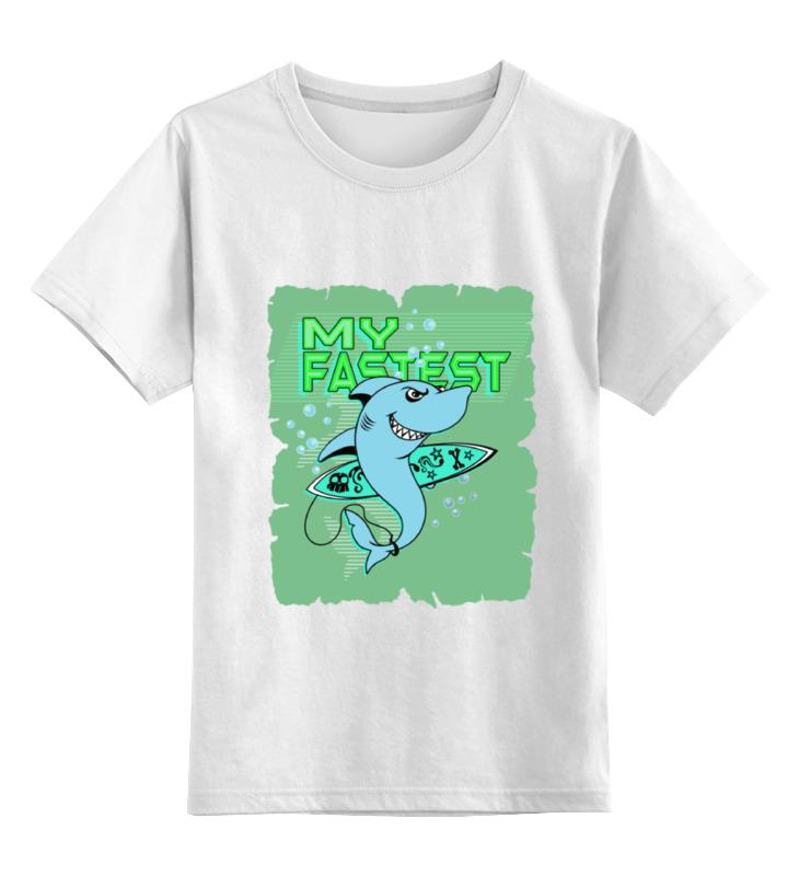 Детская футболка классическая унисекс Printio Акула серфингист футболка рингер printio акула