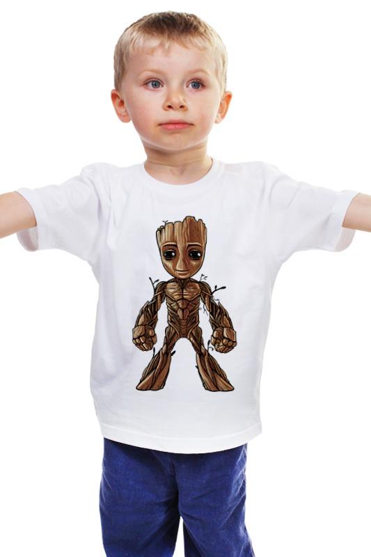 Детская футболка классическая унисекс Printio I am groot (guardians of the galaxy) new funko pop guardians of the galaxy tree people groot