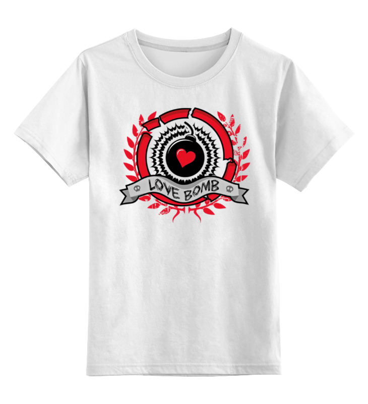 Детская футболка классическая унисекс Printio Love bomb