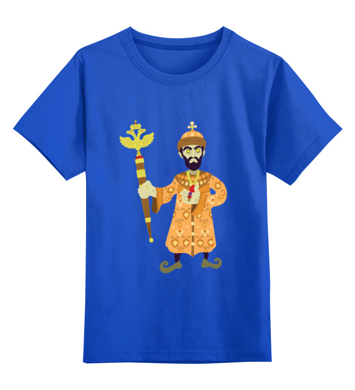 Детская футболка классическая унисекс Printio Просто царь футболка классическая printio царь просто царь