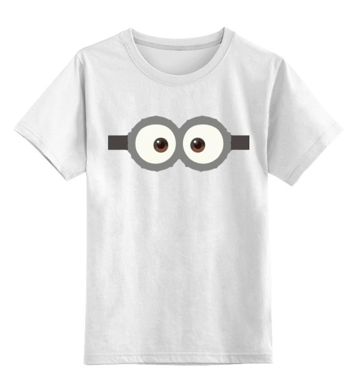 Детская футболка классическая унисекс Printio Глаза миньона детская футболка классическая унисекс printio миньоны