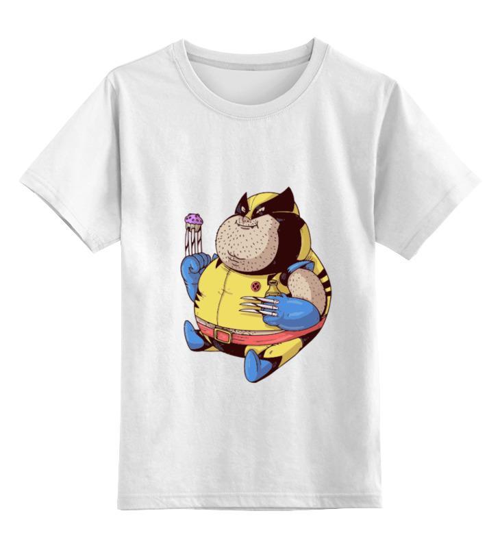 Детская футболка классическая унисекс Printio Fat wolverine детская футболка классическая унисекс printio x men wolverine