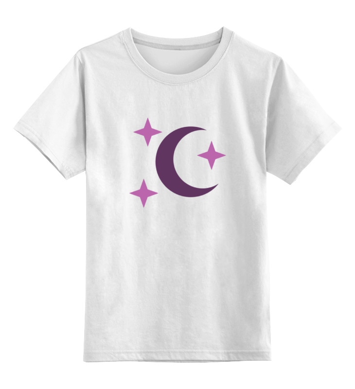 Детская футболка классическая унисекс Printio Луна и звезды (my little pony) heimess трапеция неокрашенная луна и звезды