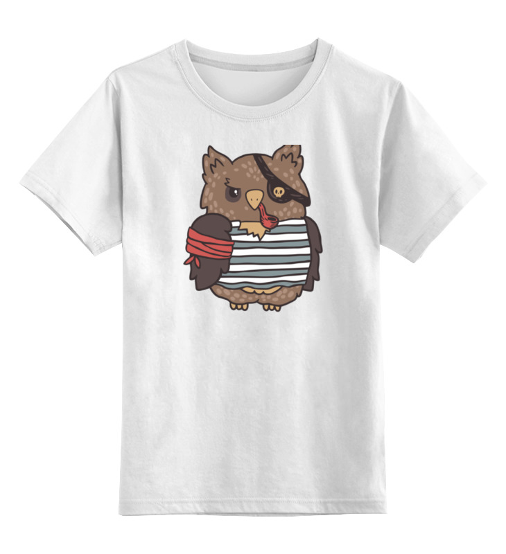 Детская футболка классическая унисекс Printio Сова пират детская футболка классическая унисекс printio свинья пират