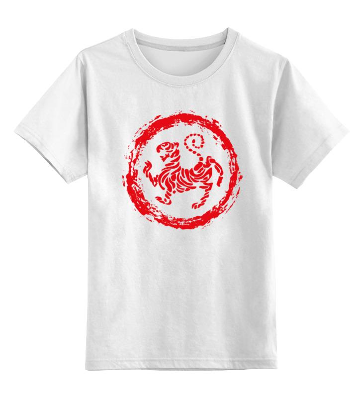Детская футболка классическая унисекс Printio Тигр (tiger) тигр tiger челюстно b18c импортированные рисоварки внутренний 5л