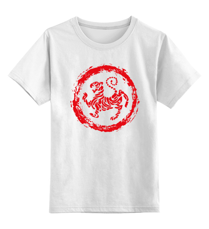 Детская футболка классическая унисекс Printio Тигр (tiger) turn down collar colorful polka dot print long sleeve shirt for men