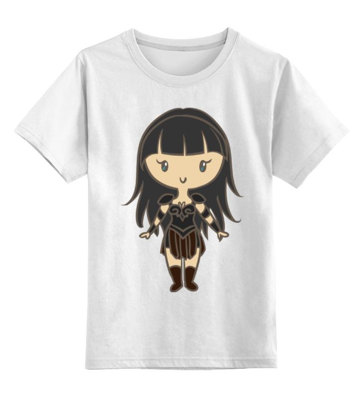 Детская футболка классическая унисекс Printio Зена — королева воинов футболка земля воинов