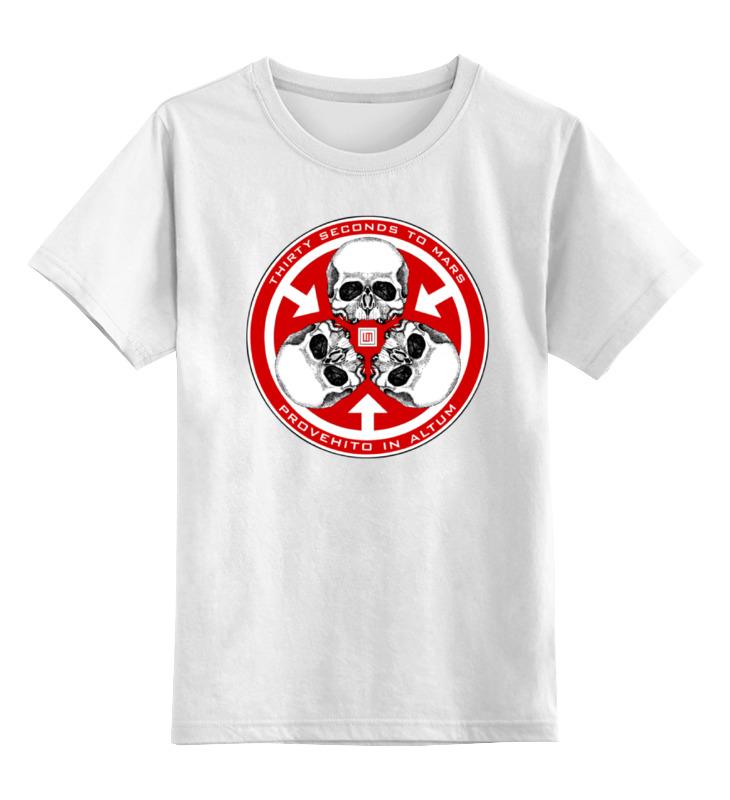 Детская футболка классическая унисекс Printio 30 seconds to mars толстовка wearcraft premium унисекс printio city of angels 30 seconds to mars
