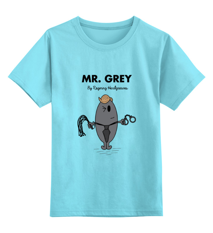 Детская футболка классическая унисекс Printio Мистер грей (50 оттенков серого) джеймс э л грей кристиан грей о пятидесяти оттенках