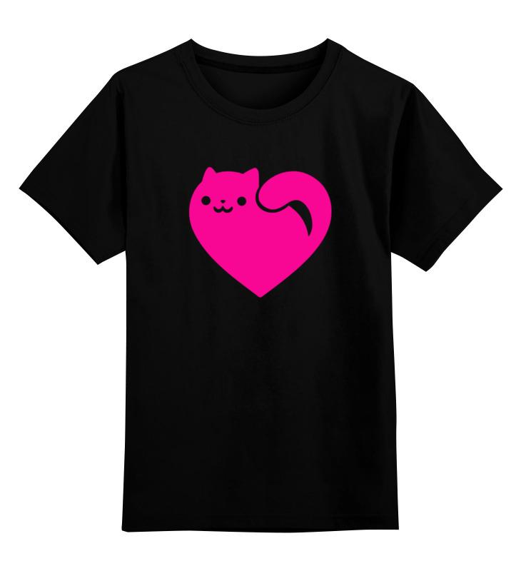 Printio Кот-сердце детская футболка классическая унисекс printio сердце