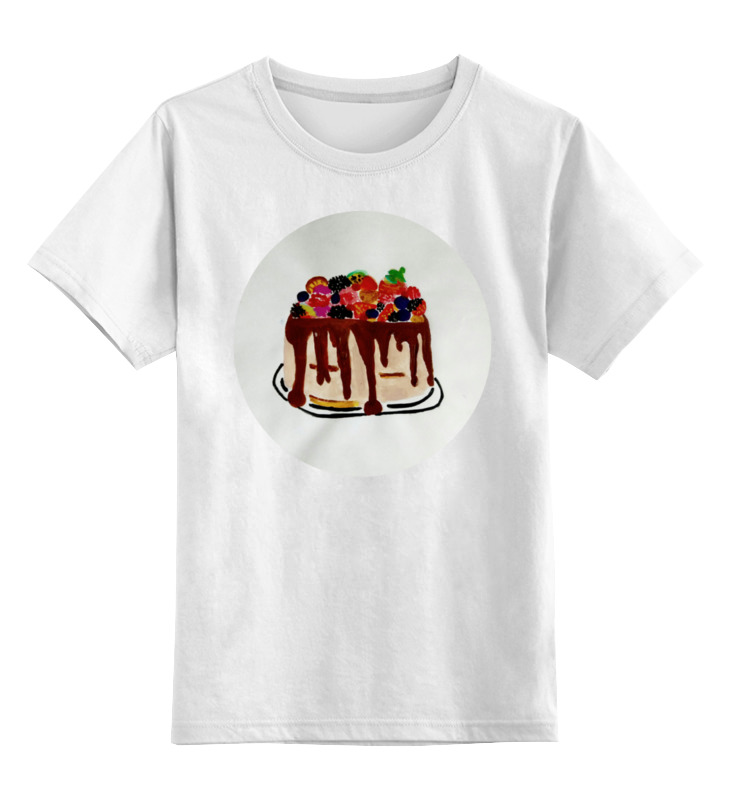 Детская футболка классическая унисекс Printio Тортик просто вкусно праздничный стол