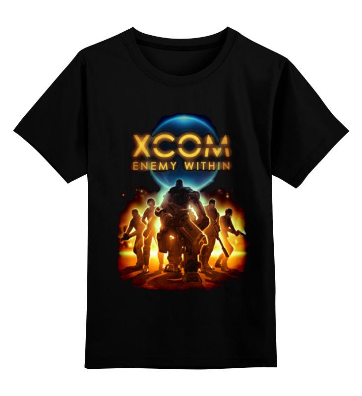 Детская футболка классическая унисекс Printio X-com 2