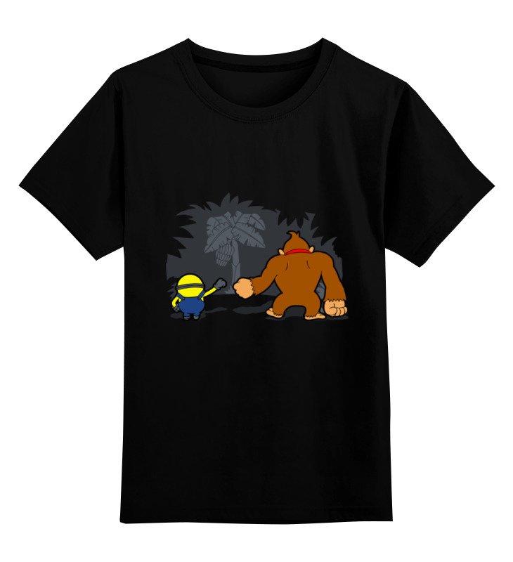 цены Детская футболка классическая унисекс Printio Миньон и донки конг