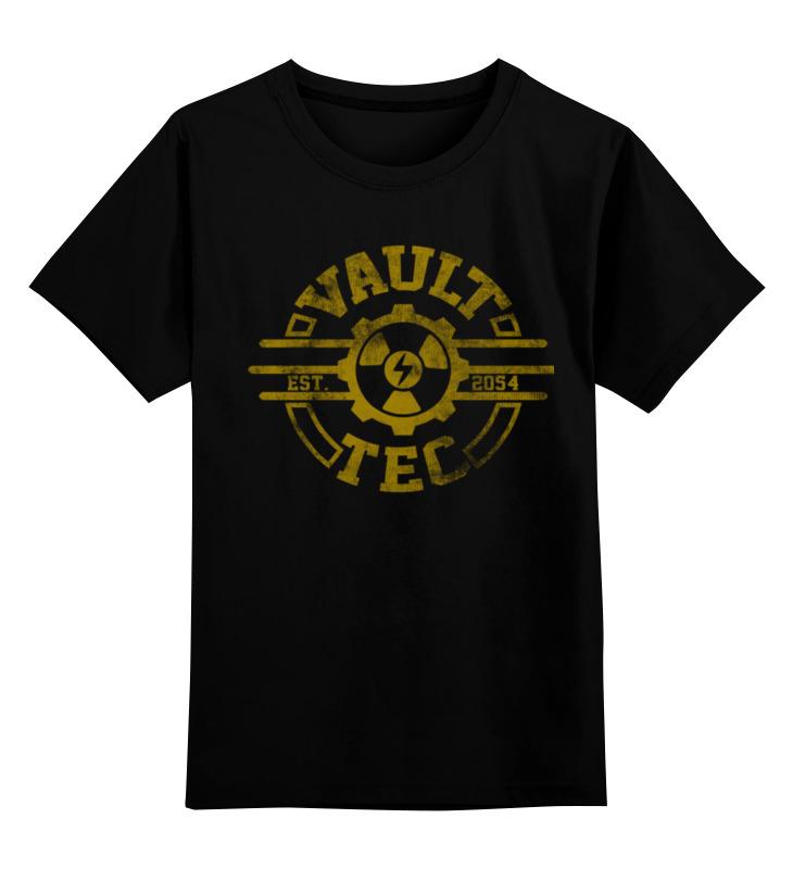 Детская футболка классическая унисекс Printio Fallout. vault-tec