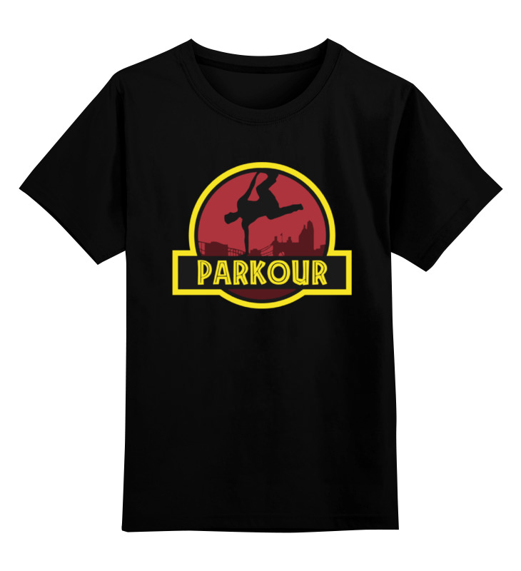 Детская футболка классическая унисекс Printio Паркур serge петров дикий паркур