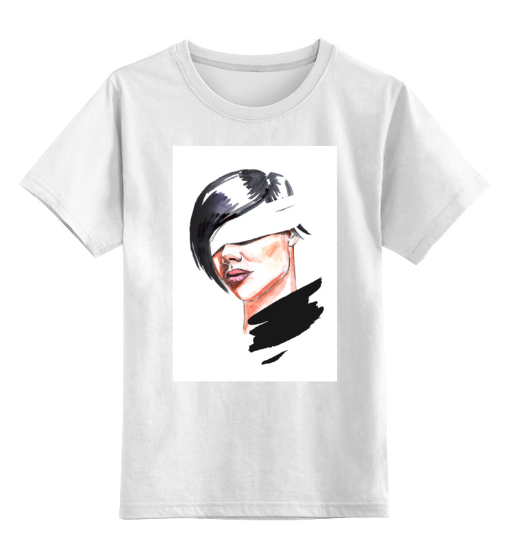 Детская футболка классическая унисекс Printio Девушка с завязанными глазами футболка классическая printio девушка с завязанными глазами
