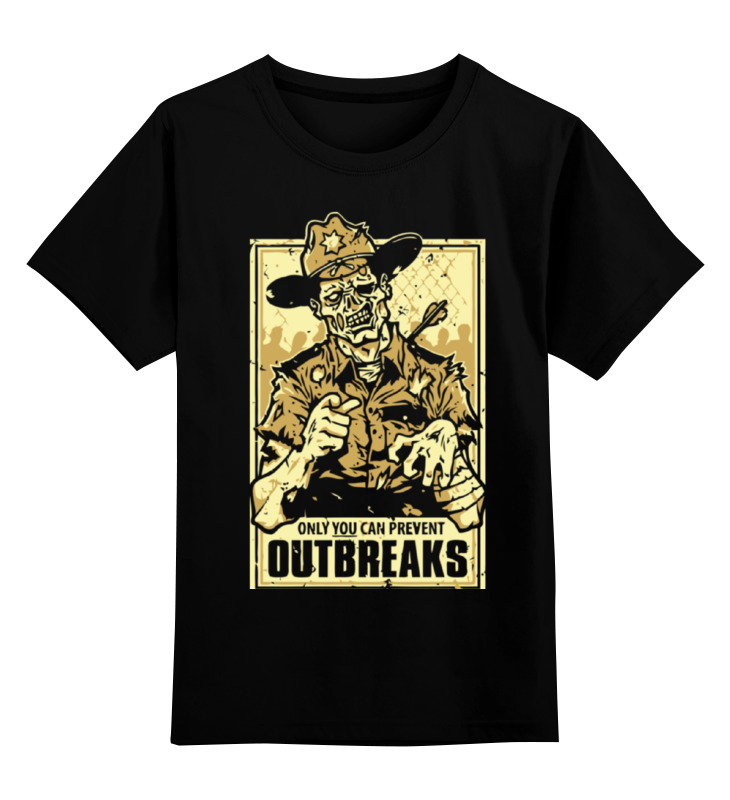 Детская футболка классическая унисекс Printio Шериф зомби (ходячие мертвецы) детская футболка классическая унисекс printio зомби