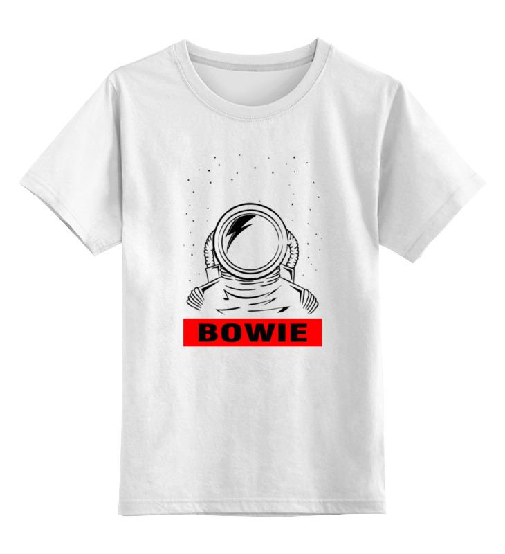 Детская футболка классическая унисекс Printio Космонавт боуи цена и фото
