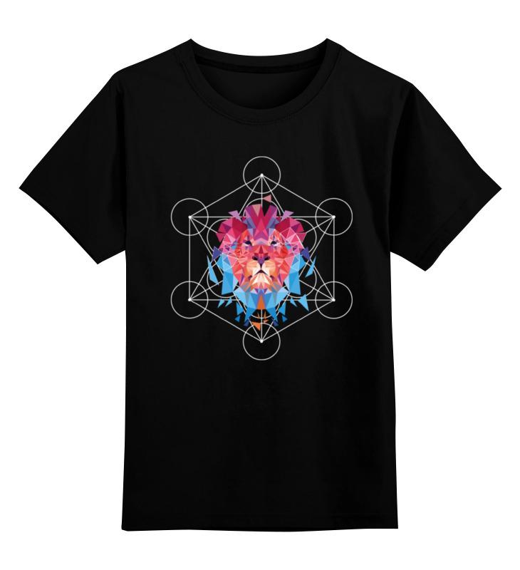 Детская футболка классическая унисекс Printio Геометрический лев цена